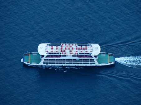Ferry, Ship, Boot, Transport, Sea route