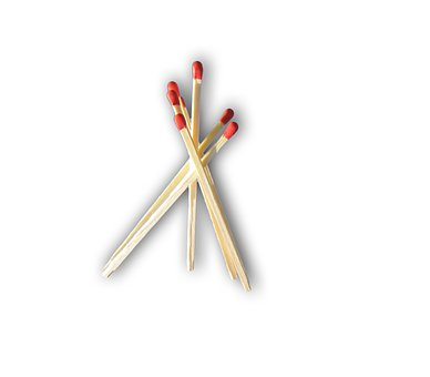 Matches, White, Wood, Pimp, Red, Isolated