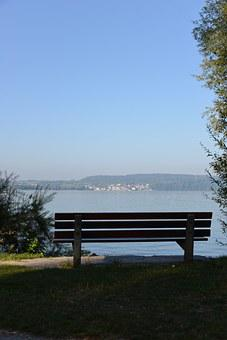 Bank, Resting Place, Lake Constance, View, Lake View