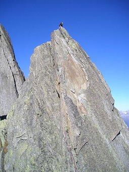 Mountains, Climber, Salbit, Southwest Ridge, Alpine