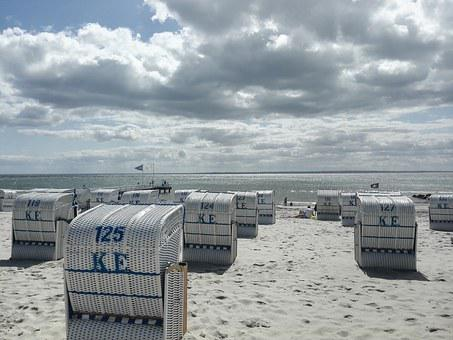 Beach, Grömitz, Beach Chair, Sand, Baltic Sea, Booked