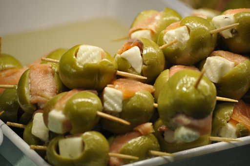 Olives, Stuffed Olives, Tapas, Pintxo, Appetizer