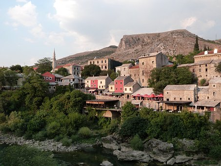 Neretva River, Old Town, Architecture, Building