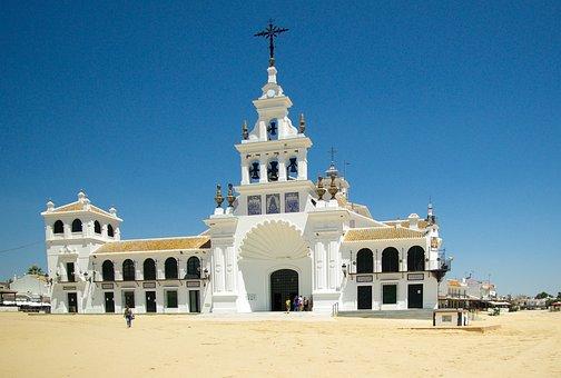 Spain, Andalusia, El Rocío, Church