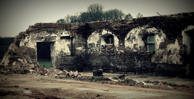 Demolition, Wall, Vault, Masonry, Stones, Stone Wall