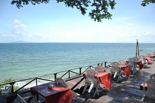 Restaurant, Seaside, Ocean, Tropical, Outdoor, Dining