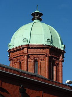 Middlesbrough, Dome, Museum, Copper, Green, Building