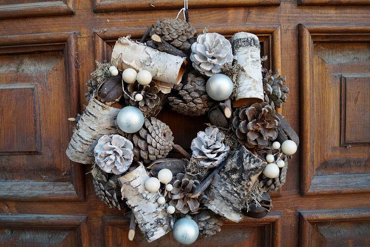 Wreath, Cones, Decoration, Door