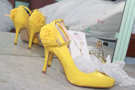 Shoes, Jump Shoes, Yellow Shoe