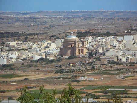 Mgarr, Malta, View, Landscape, City, Dome Church