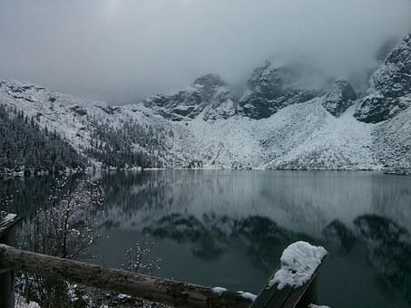 Morskie Oko, Winter In The Mountains, Tatry, Top View