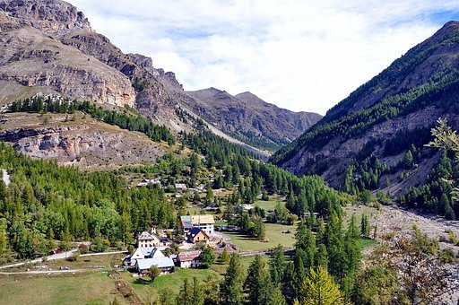 France, Ubaye Valley, Mountains, Ravine, Gorge, Sky