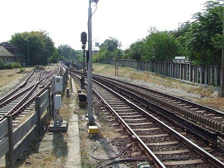 Rail, Tracks, By Public Transport, Station, Metro