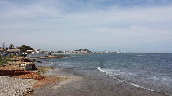 Dénia, Beach, East, Marina, Port Dénia, Sea, Bay