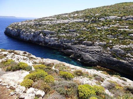 Mgarr Ix-xini, Bay, Secluded, Boat, Sea