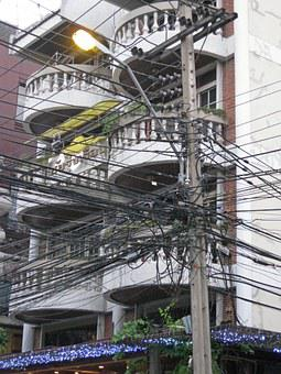 Bangkok, Street, Illumination, Town, Thailand