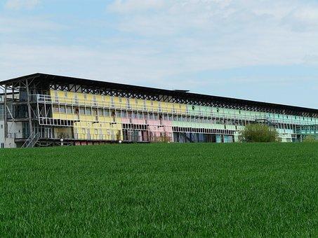 Building, Colorful, University, Architecture, Ulm