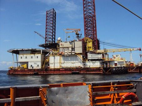 Platform, Drilling, Africa, Gabon, Travel