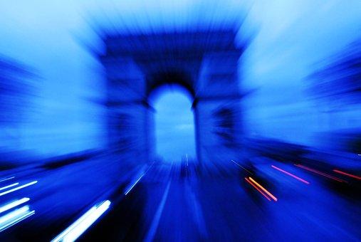 Triumph, Arch, Paris, Blur, Focus, Art