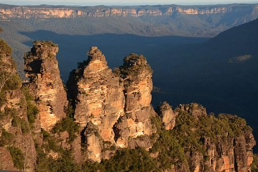 Three Sisters, Blue Mountains, Landscape, Rock