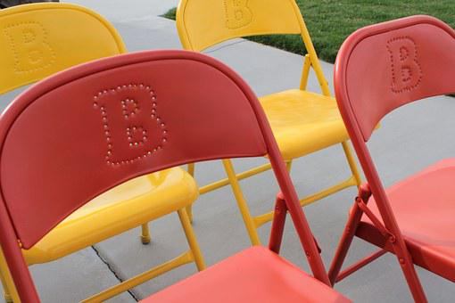 Folding Chairs, Paint, Colored, Colorful, Furniture