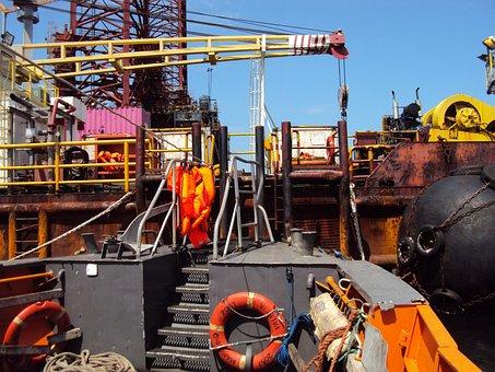 Drilling, Platform, Africa, Gabon, Travel