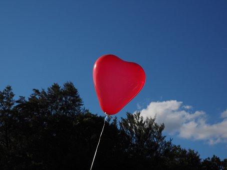 Balloon, Heart, Heart Shaped, Love, Romance, Romantic