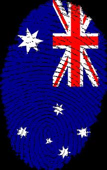 Australia, Flag, Fingerprint, Country, Pride, Identity