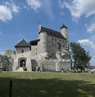 Castle, Poland, Sky, Stone, Old, Refurbished, Bobolice