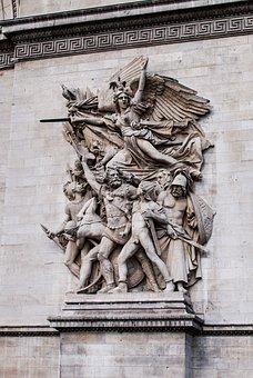 Arch Of Triumph, Paris, France, Statue