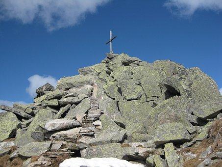 Top Of Courage, Alpine, Summit, Mountain, Mountains