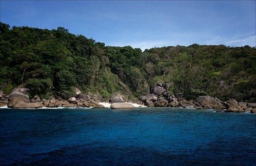 Thailand, Beach, Sun, Similan Islands