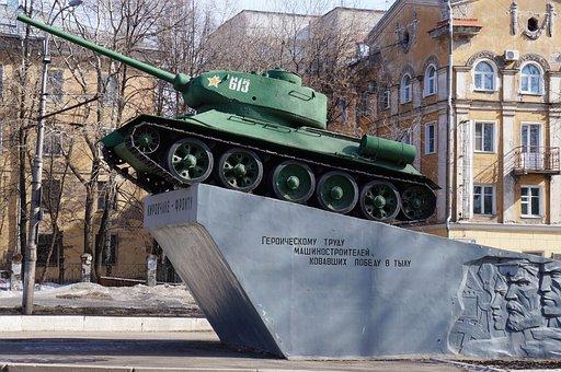 Tank, War, Monument, Kirov