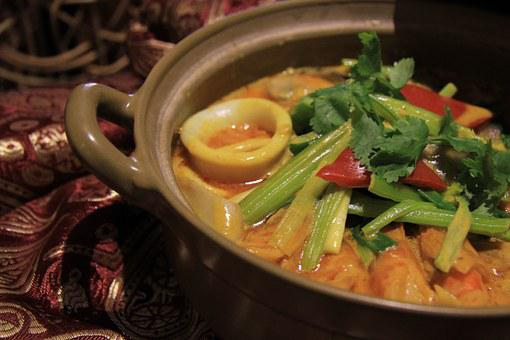 Thai Cuisine, Thai House, Thai Curry Seafood Clay Pot