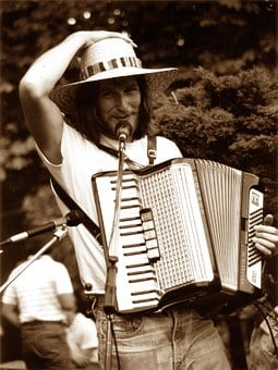 Accordion, Music, Man, Romance, Singing, Singer