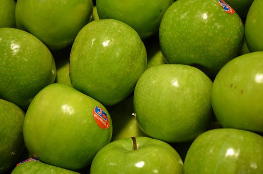 Apple, Granny, Smith, Green, Variety, Fruit, Display