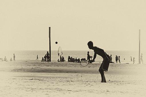 Beach, Sand Beach, Ball Game, Ball, Summer, Water