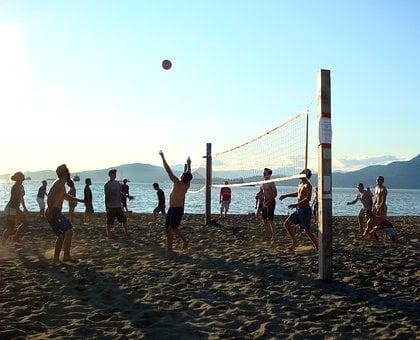 Beach Volleyball, Ball, Summer, Sport, Game, Sand