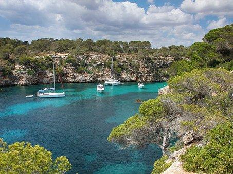 Mallorca, Booked, Sea, Boats, Nature, Water