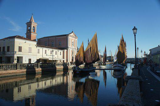 Cesenatico, Italy, Port, Old, Leonardo Da Vinci