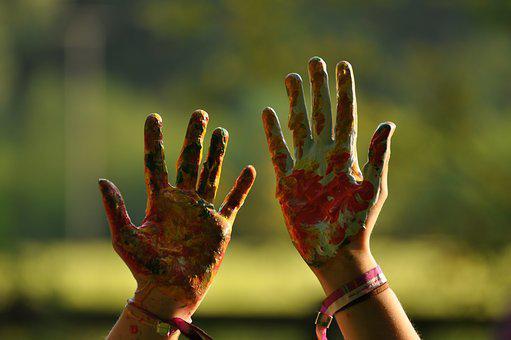 Hands, Colorful, Fun, Hand, Color, Painted, Child
