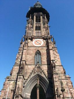 Münster, Tower, Church, Great, High, Upright, Just