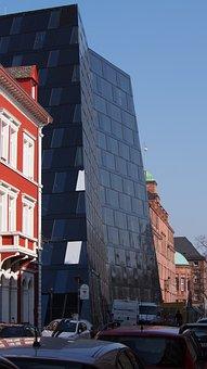 University Library, Freiburg, Facade, Homes, Road, City