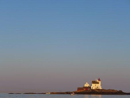 Norway, Lighthouse, Ocean, Sea, Coast, Coastline, Fyr