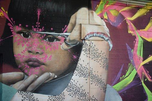 Grafitti, Vienna, Road, Donaukanal, Wall, Stone