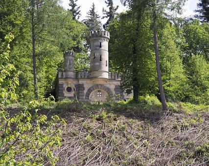 Castle, Waterworks, Freiburg, Forest, Picturesque