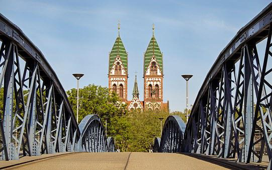 Church, Jesus Heart, Bridge, Wiwilli Bridge, Freiburg