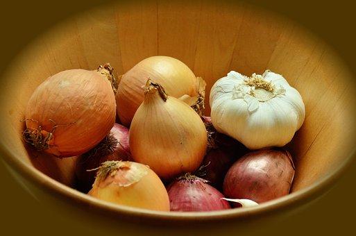 Onions, Garlic, Tubers, Vegetables, Fresh, Nutrition