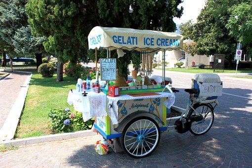 Ice Cream Truck, Nostalgic, Italy, Gelati, Ice Cream
