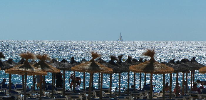 Beach, Sun, Summer, North Sea, Girl, Sea, Sky, Ocean